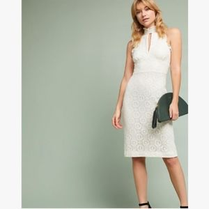 Anthropologie White Ivory Lace Dress